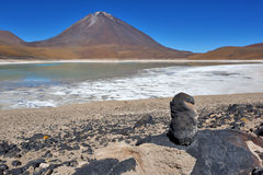 Symmetrical stratovolcano, Bolivia Royalty Free Stock Photo