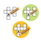 Symmetrical Sudoku icon. Set Symmetrical Sudoku icon - vector illustration pencil stock illustration