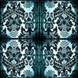Symmetrical tapestry fabric with burned edges Stock Image