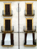 Symmetrical terrace front stock photos