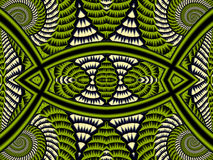 Symmetrical Textured Background with Spirals. Gray and green pal Stock Photo