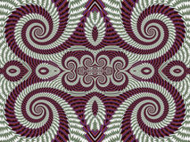 Symmetrical Textured Background with Spirals. Gray and vinous pa Royalty Free Stock Images