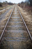 Symmetrical Train Track Stock Image