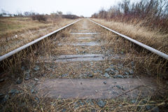 Symmetrical Train Track Royalty Free Stock Photography