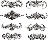 Symmetrical tribal vignettes Royalty Free Stock Images