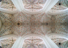 Symmetrical vault of the church. Inspiring stellar vault in church with perfect symmetry Royalty Free Stock Image