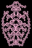 Symmetrical vertical pink curled design Royalty Free Stock Photography