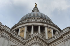Symmetrical view st pauls dome Royalty Free Stock Photo