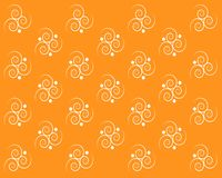 Symmetrical white swirls on an orange background royalty free illustration
