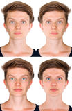 Symmetrical woman face Royalty Free Stock Photo