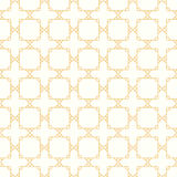 Symmetrical yellow geometric shapes vector textile Stock Photography