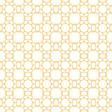 Symmetrical yellow geometric shapes vector textile Stock Photos