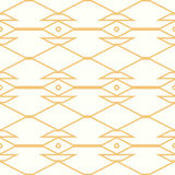 Symmetrical yellow geometric shapes vector textile Stock Images