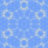 Symmetrically grafika tworzy kolorowy mandala kwitnie lodowego kwiatu lub płatka śniegu Zdjęcie Royalty Free