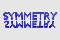 symmetrie geometrisch concept royalty-vrije illustratie