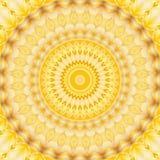 Symmetrie van de patroon de gele geometrische caleidoscoop decoratie royalty-vrije illustratie