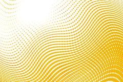 Symmetrie van de patroon de gele geometrische caleidoscoop mozaïekwijnoogst stock illustratie