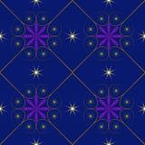 Symmetrie van het de abstractie vectorbehang van de patroon de blauwe vierkante ster gele Vector Illustratie