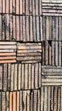 Symmetrie van kleibakstenen muur Royalty-vrije Stock Foto's
