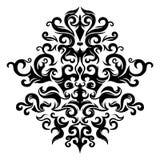 Symmetrisch bloemenornament Stock Foto
