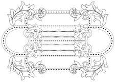 Symmetrisch borduurwerk of gewatteerde bloemen stock illustratie