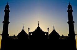 Symmetrisch Islamitisch architectuursilhouet royalty-vrije stock foto's