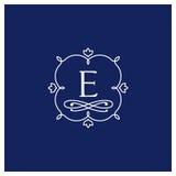 Symmetrisch monogram Royalty-vrije Illustratie