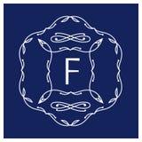 Symmetrisch monogram Royalty-vrije Stock Fotografie