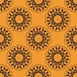 Symmetrisch naadloos die behangpatroon wordt gebaseerd op Stock Afbeelding