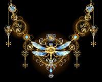 Symmetrisch ornament met libel stock illustratie