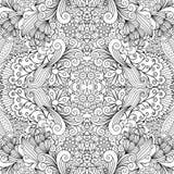 Symmetrisch overzichts sier bloemenpatroon royalty-vrije illustratie
