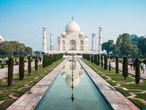Symmetrisch Taj Mahal Royalty-vrije Stock Afbeeldingen