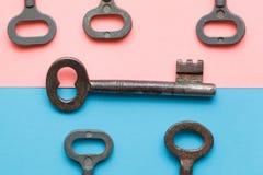 Symmetrisch vereinbarte Schlüssel lizenzfreies stockbild