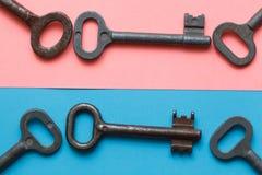 Symmetrisch vereinbarte Schlüssel stockfoto