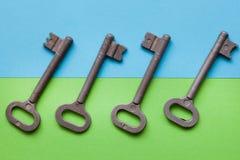 Symmetrisch vereinbarte Schlüssel stockfotografie