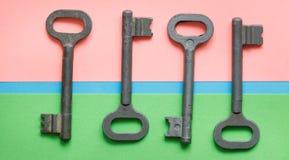 Symmetrisch vereinbarte Schlüssel stockbild