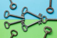 Symmetrisch vereinbarte Schlüssel stockfotos