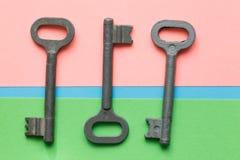 Symmetrisch vereinbarte Schlüssel lizenzfreie stockbilder