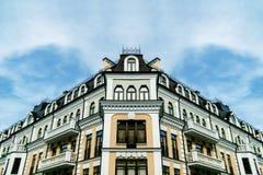 Symmetrische Ansicht über das Gebäude Stockfoto