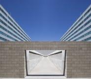 Symmetrische Architecturale overwelfde galerij Royalty-vrije Stock Fotografie