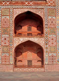 Symmetrische Bögen Akbars am Grab, Agra Stockfotografie