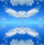 Symmetrische bezinning Stock Fotografie