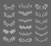 Symmetrische bloemen grafische ontwerpelementen Royalty-vrije Stock Foto's
