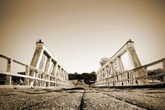 Symmetrische Brücke Stockfotos
