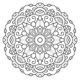 Symmetrische cirkelpatroonmandala Stock Foto