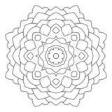 Symmetrische cirkelpatroonmandala Royalty-vrije Stock Afbeeldingen