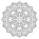 Symmetrische cirkelpatroonmandala Royalty-vrije Stock Fotografie