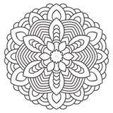 Symmetrische cirkelpatroonmandala Stock Afbeeldingen