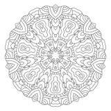 Symmetrische cirkelpatroonmandala Royalty-vrije Stock Afbeelding