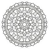 Symmetrische cirkelpatroonmandala Stock Afbeelding